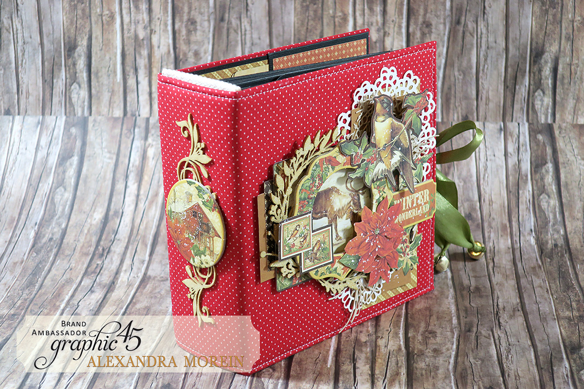 Winter Wonderland Mini Album, Project by Alexandra Morein, Product by Graphic 45, Photo 3.jpg