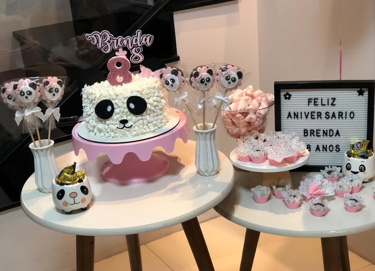 decoração de aniversário tema panda rosa