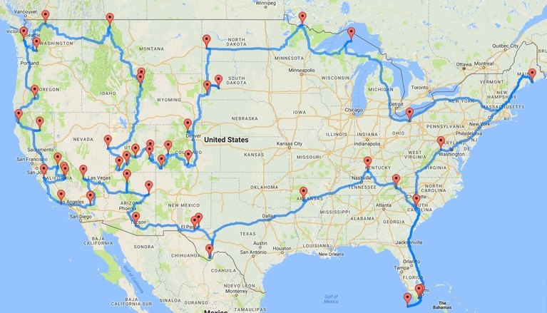 road trip for nature lovers going through all the national parks