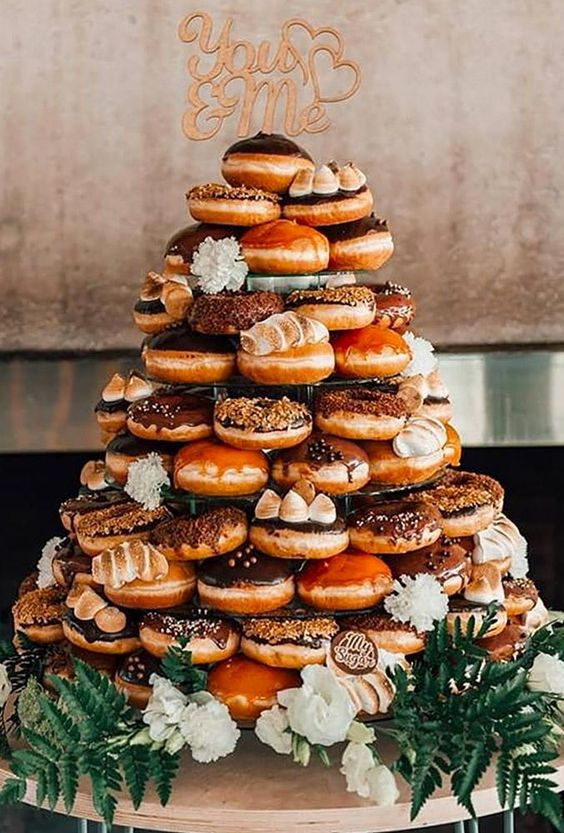 45 Sweet Wedding Donut Ideas And Ways To Display Them - Weddingomania