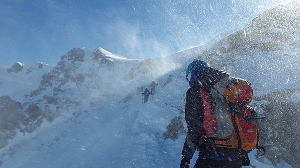 Mont Blanc zimą