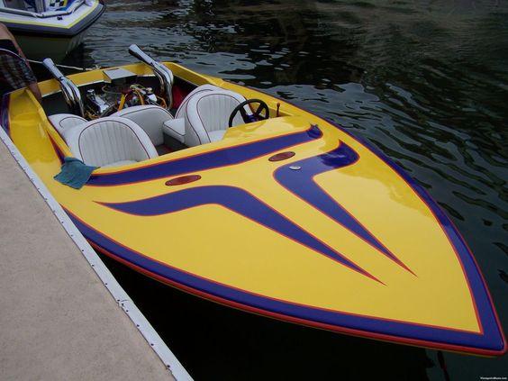 Vintage Jet Boat Design