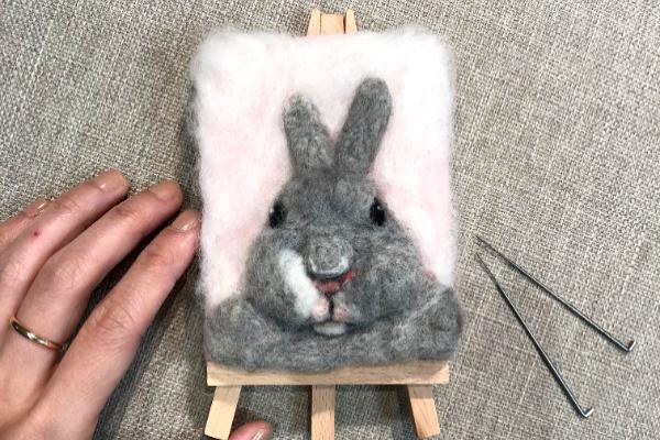 品品學堂體驗活動 手作兔寶寶畫像