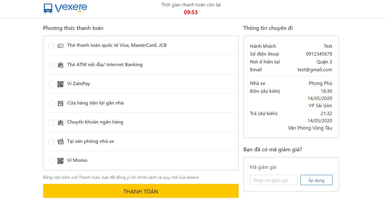 Chọn hình thức thanh toán Ví ZaloPay để nhận cashback 50k cho hóa đơn từ 150k