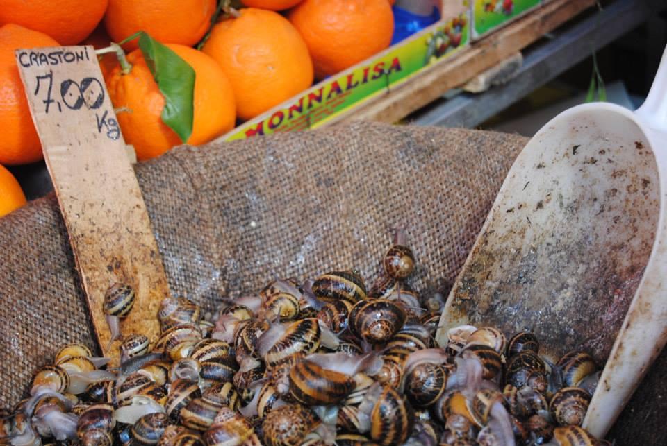 A large bowl of snails.