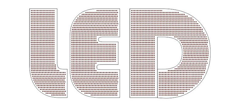 kết quả Đổ led vào chữ