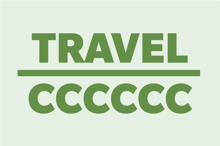"""Rebus puzzle """"Travel/CCCCCC"""""""