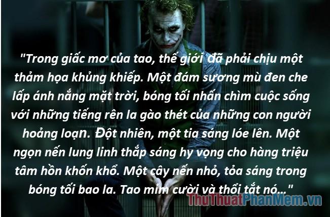 Những câu nói hay của Joker - 11