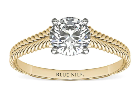 Braided Cathedral Solitaire from Blue Nile