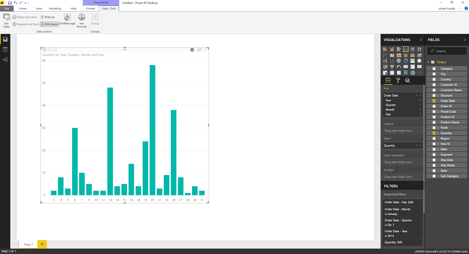 Drill In / Out on Your Data For Different Dates In Microsoft Power BI 36
