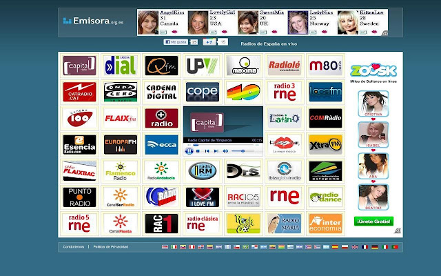 Emisoras de radio ciudad de A Coruña - enlaces
