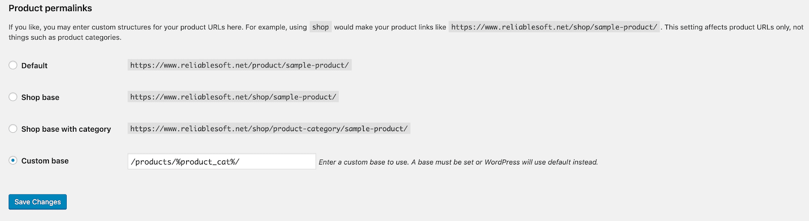 Install Permalink WooC Commerce