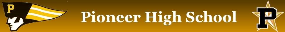 Pioneer High School web banner