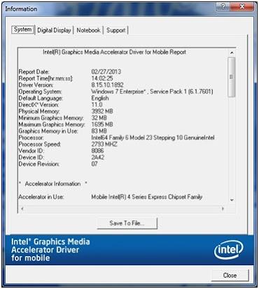 Intel 965 graphics driver download