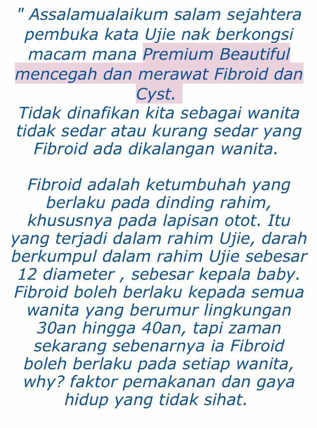 fibroid cyst pcos testimoni premium beautiful
