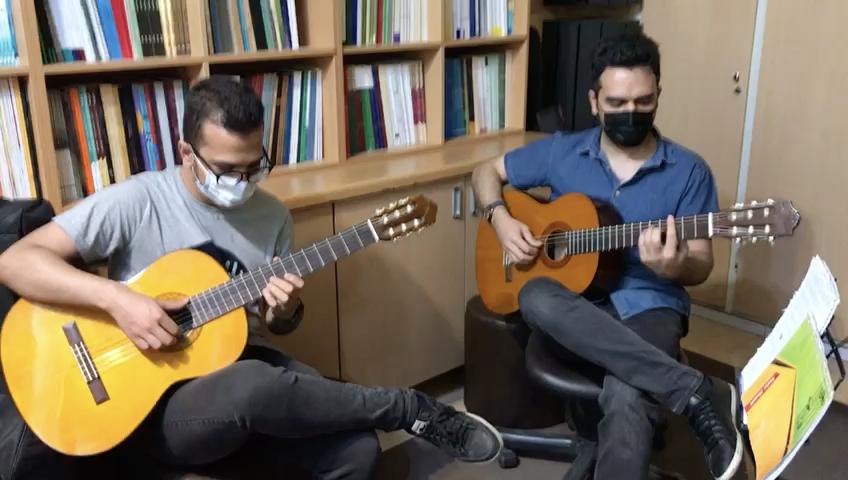 پت و مت نکیسا شهبازی هنرجوی گیتار فرزین نیازخانی