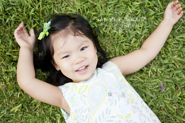 Little girl in grass - toddler photos