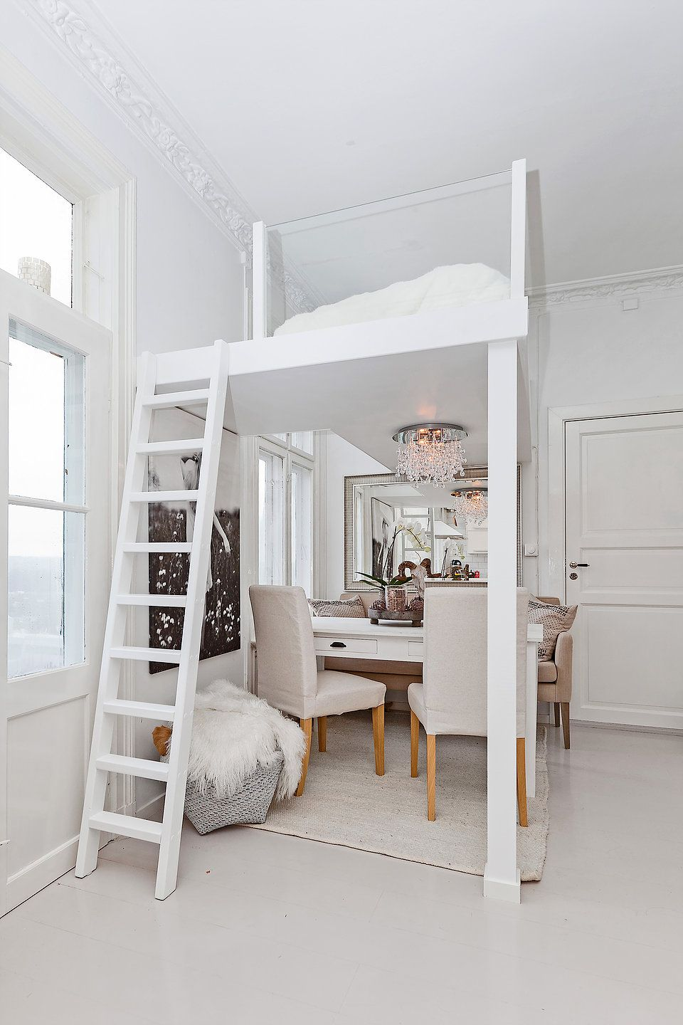 Loft Bed Ideas with Glass Railings