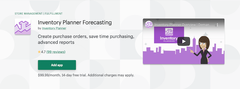 Inventory Planner Forecasting Shopify App Store