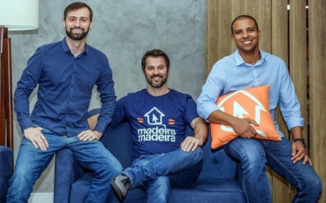 Marcelo Scandian, Daniel Scandian e Robson Privado, fundadores da MadeiraMadeira
