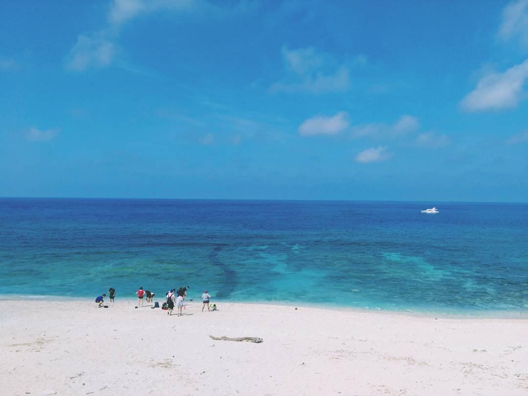 綠島大白沙潛水區有美麗的白沙
