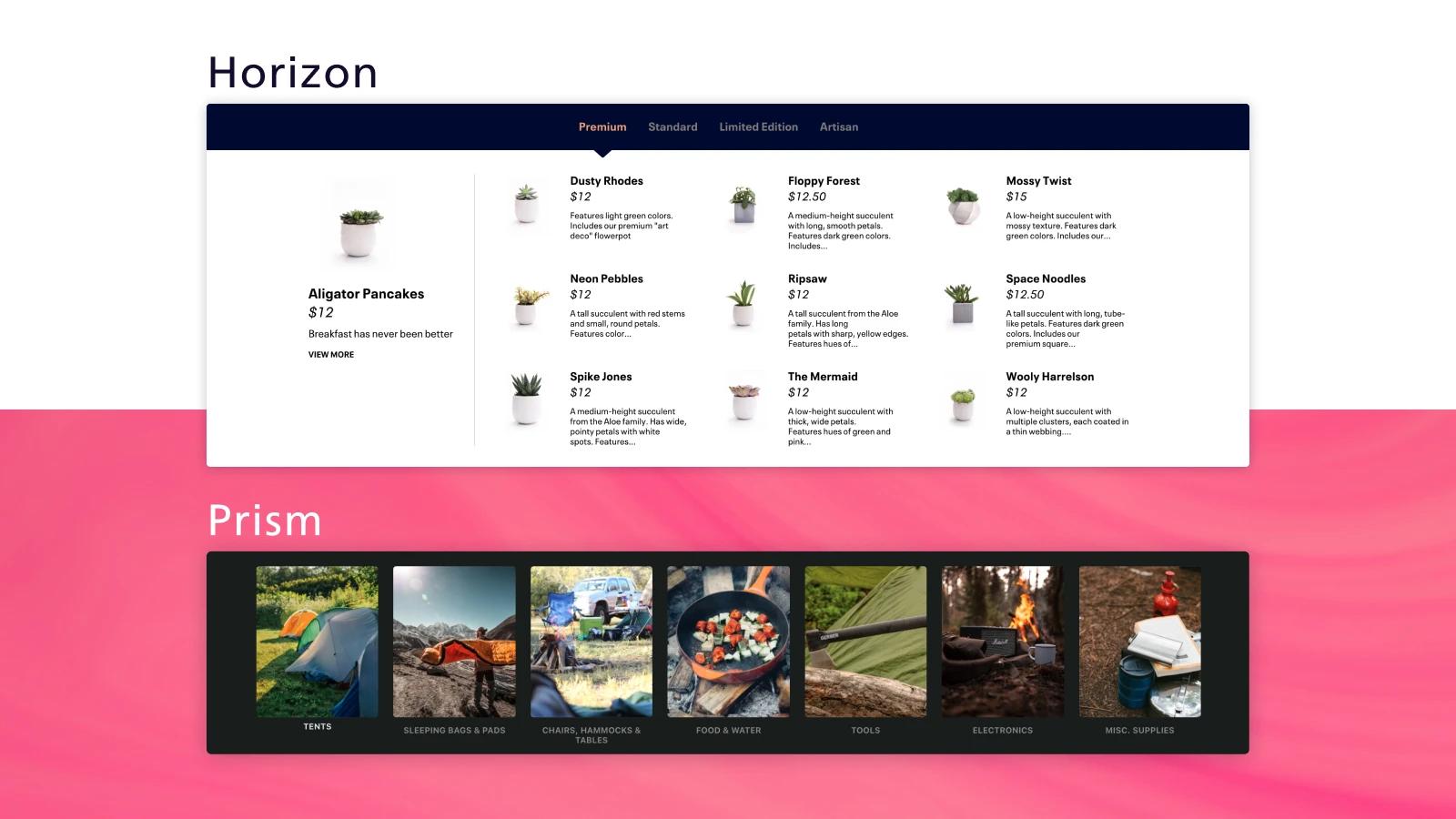 stunning Shopify menu app