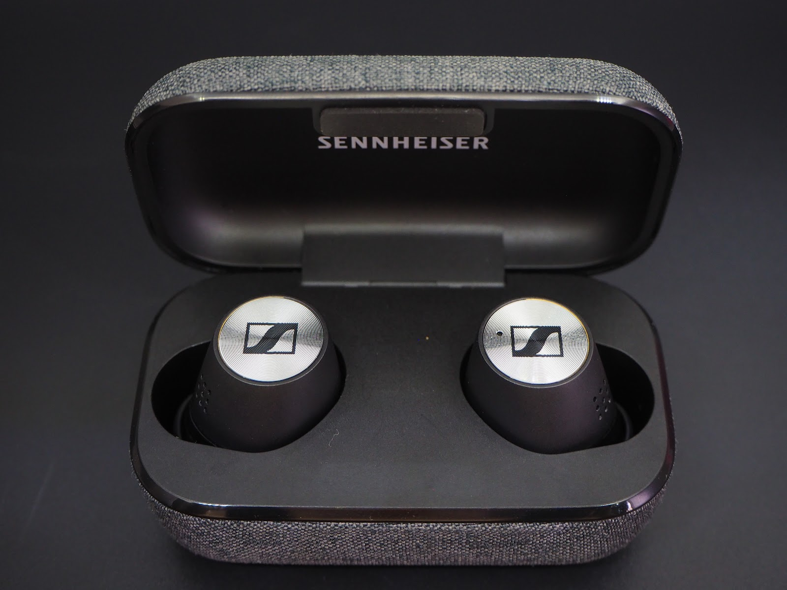 Sennheiser MOMENTUM True Wireless 2 stored and charged in the case