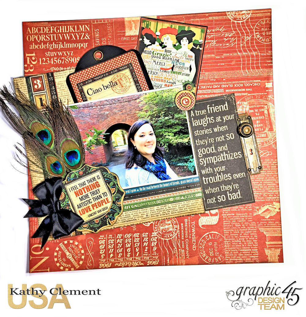 Ciao Bella Layout Tutorial 60 second video Typography by Kathy Clement Product by Graphic 45