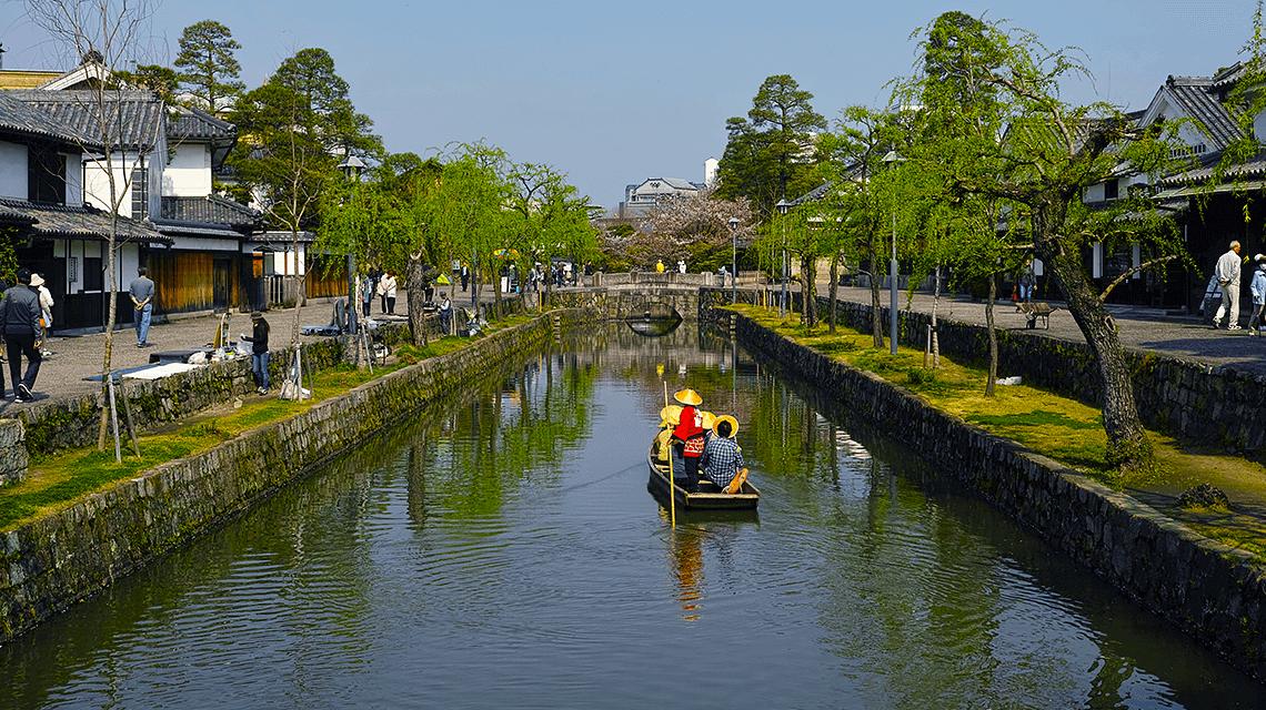Kurashiki Canal, Okayama Prefecture, Japan