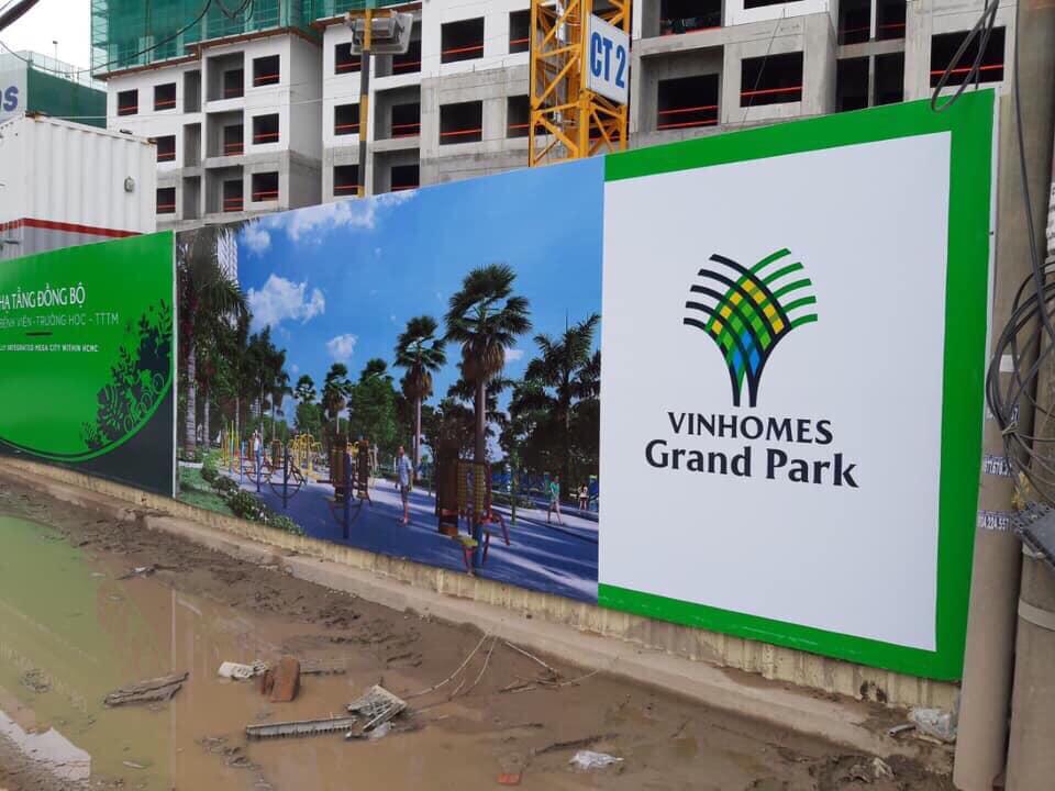 tiến độ phân khu the light vinhomes grand park