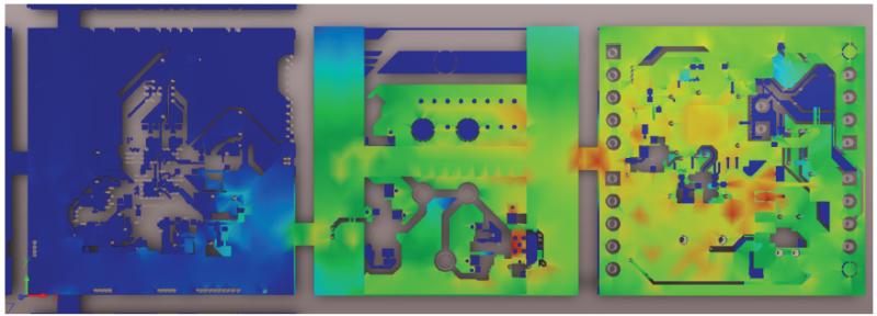 Current Density Plot on Complex Rigid-Flex Design