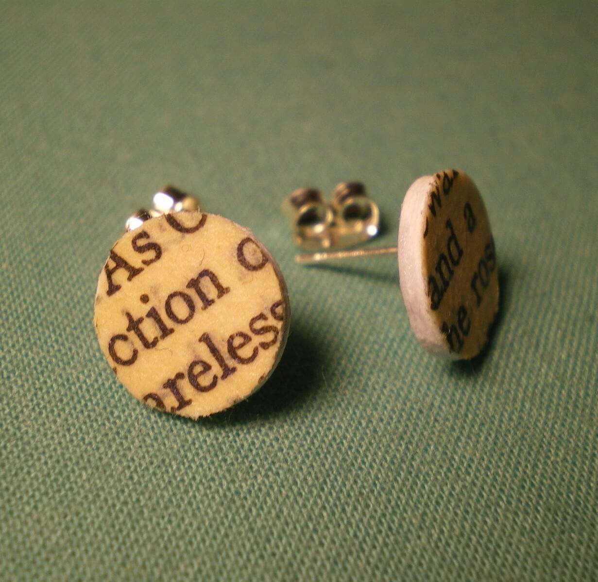 Cardboard Stud Earring