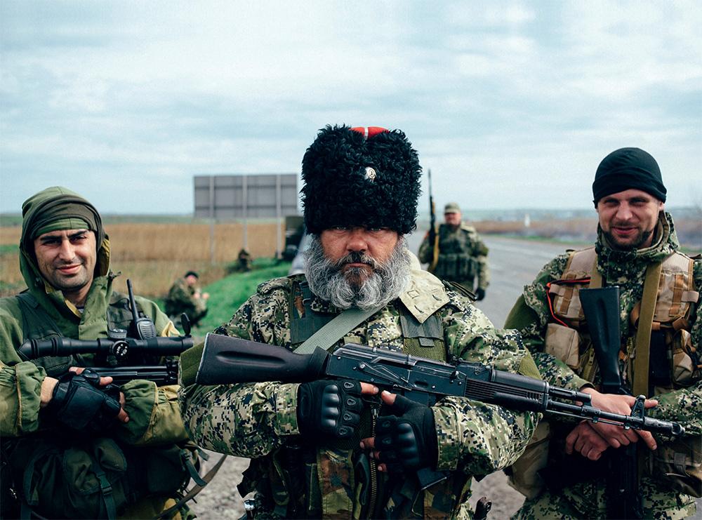 Александр Можаев («Бабай») и боевики ДНР