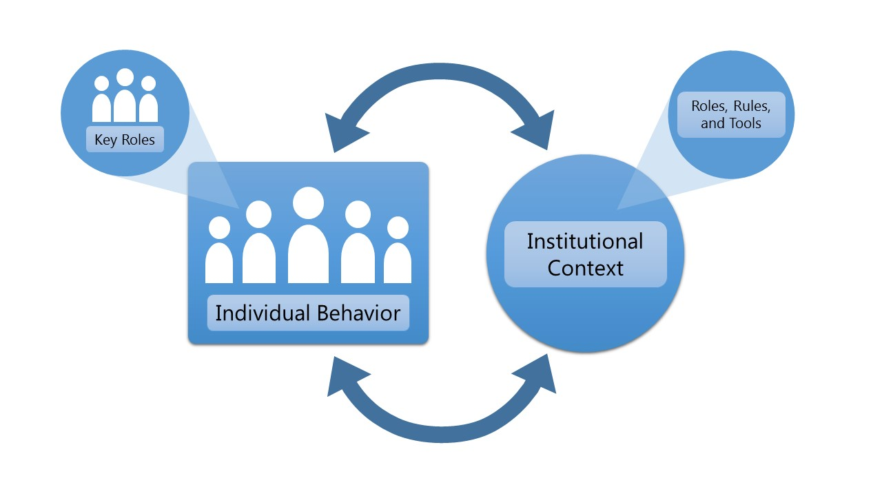 institutional change graphic
