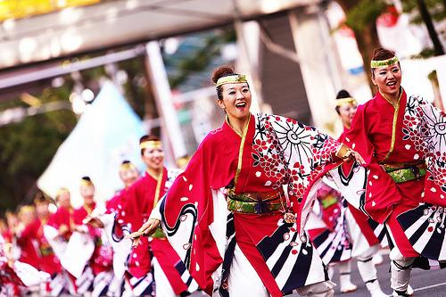 Kết quả hình ảnh cho điệu nhảy truyền thống của nhật bản yosakoi