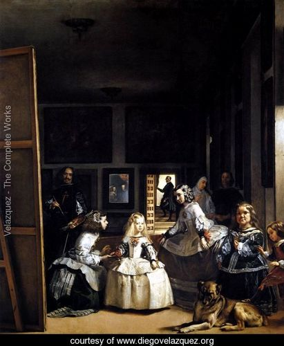 Las Meninas or The Family of Philip IV 1656-57 - Diego Rodriguez de Silva y Velazquez - www.diegovelazquez.org