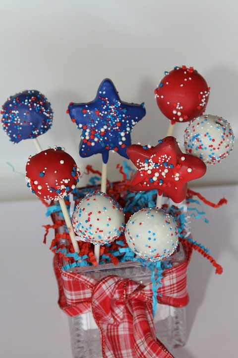 Fourth Of July, July 4Th, Celebrate, Sweets, Cake Pops