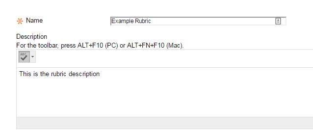 Rubric Name and Description