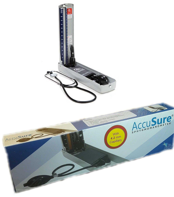 AccuSure Mercury Sphygmomanometer Blood Pressure Machine