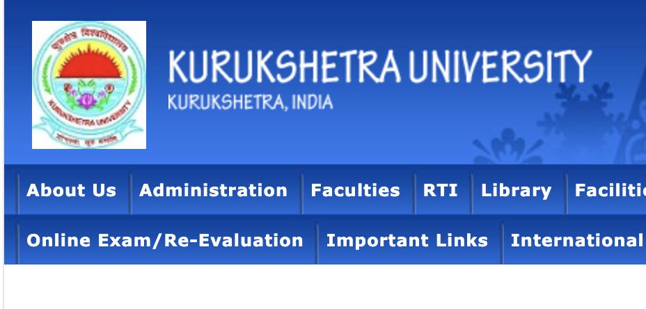 Kurukshetra-University-web-portal
