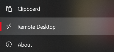 select the Remote Desktop option.