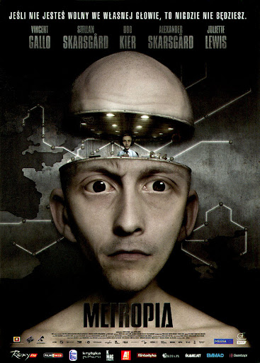 Przód ulotki filmu 'Metropia'