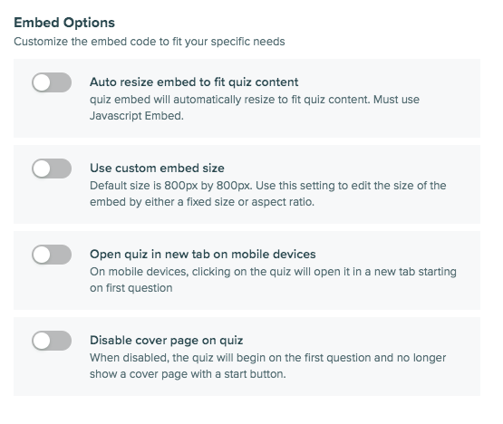 embed settings in Interact