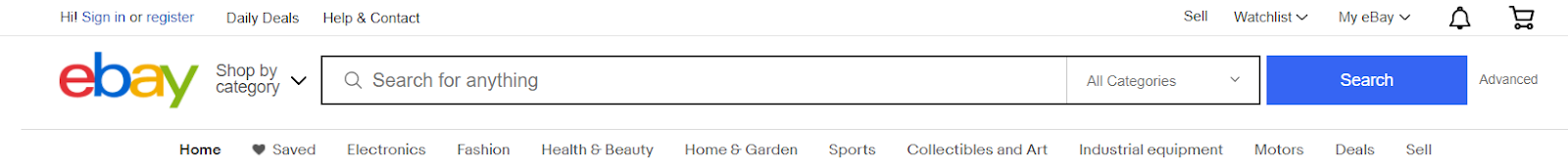Screenshot of Ebay - Product Listing Search Engine
