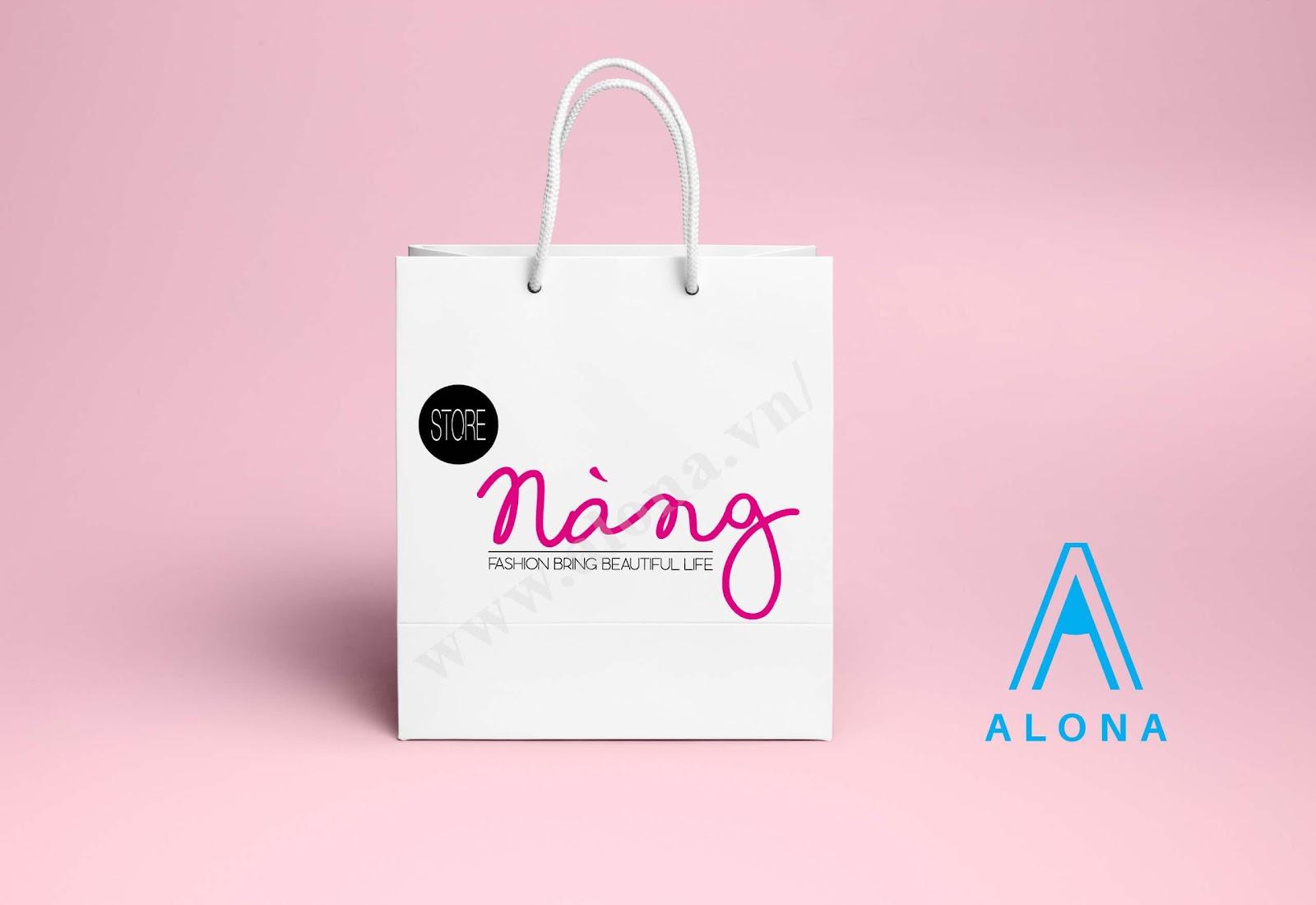 In túi giấy cho shop mỹ phẩm sam - Alona