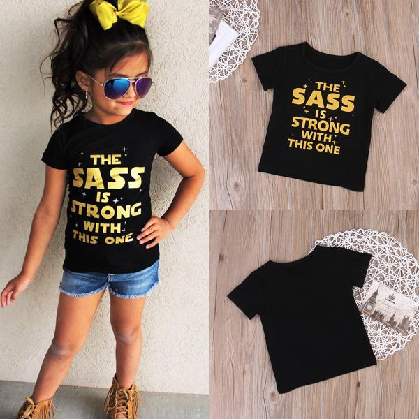 Czarny t-shirt dla dzieci