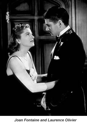 Joan Fontaine and Laurence Olivier.