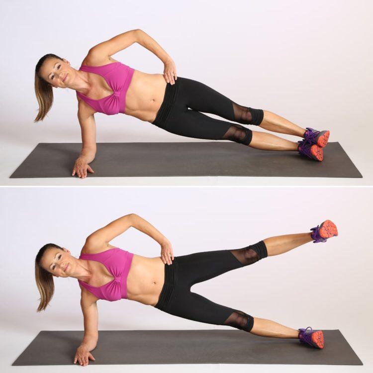 plank đúng cách - Plank bên nâng chân