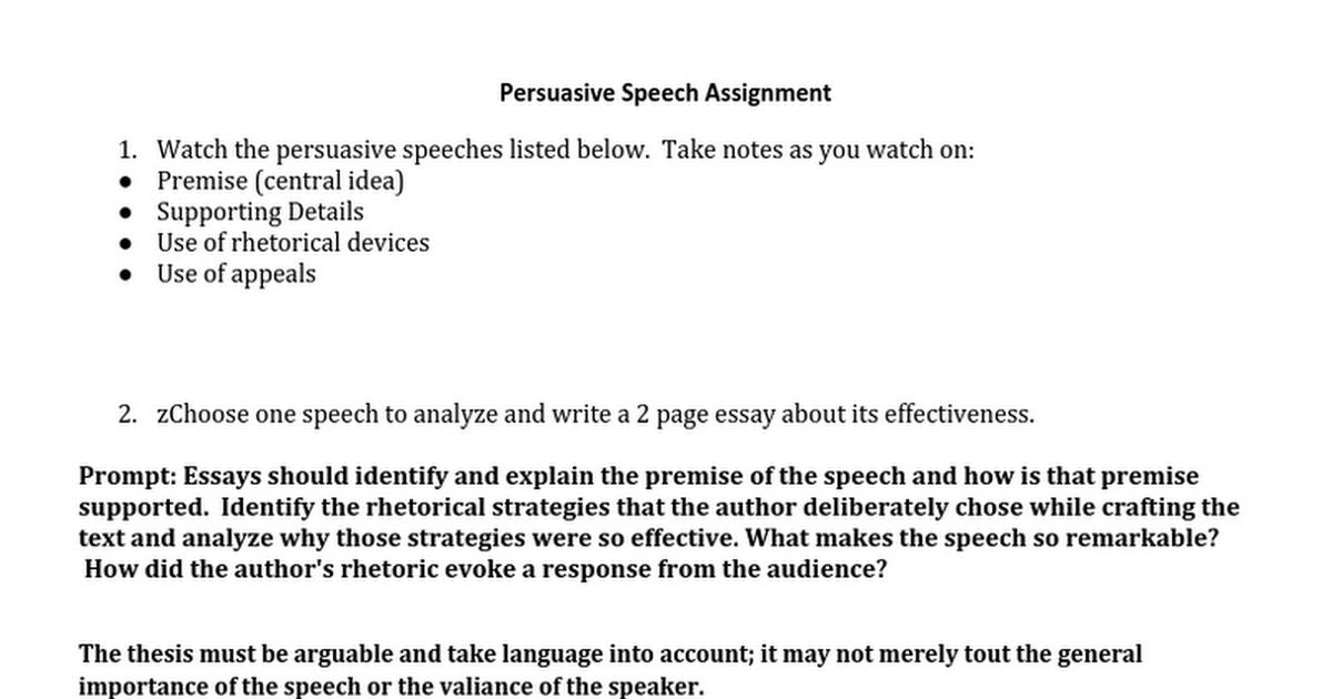 persuasive speech strategies