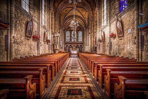 Old church chapel interior